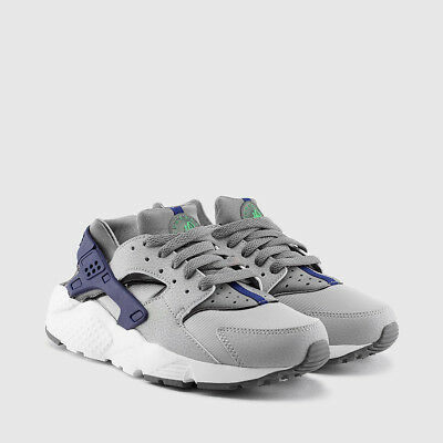 Youth Boys GS Nike Air Huarache Low Sneakers New, Grey / Navy 654275-014