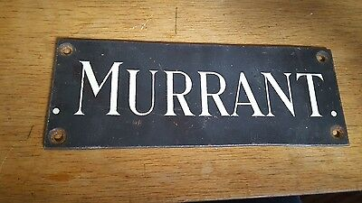 Old copper plaque sign