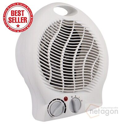 White Small Light Quiet Portable 2Kw 2000W Electric Upright Standing Fan Heater