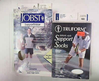 Jobst & Truform Athletic Knee High Socks - Small - White - Ew 5998J