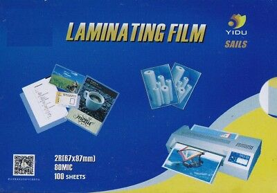 Badge Card Laminating Pouches 80 Micron 67x97mm (100 Pack)