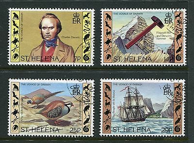 St Helena 1982 Charles Darwin set of 4 stamps SG393-396 Used AS280