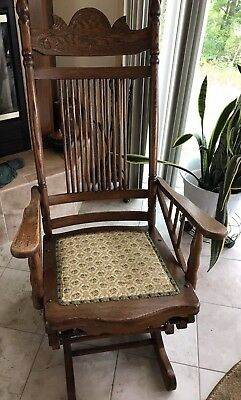 Astounding Antique Oak Platform Rocker Rocking Chair Local Pick Up Gmtry Best Dining Table And Chair Ideas Images Gmtryco