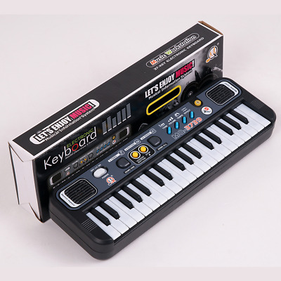Kids Mini Portable Electronic Keyboard 37 Key Piano Musical Toy w Microphone
