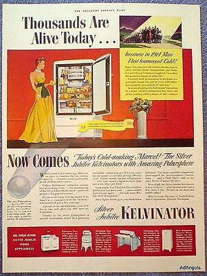1939 Kelvinator Silver Jubilee Refrigerator 1914 Man Harnessed Cold Alive Today