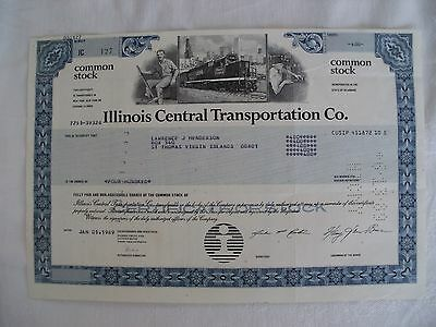 Lot of 25 Illinois Central Railroad Transportation Cancelled Stock