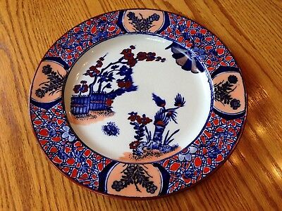 c 1807 ANTIQUE ENGLISH POLYCHROME POTTERY PLATE CHINESE DESIGN HAND COLOURED