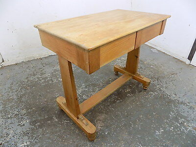vintage,1920's,small,pine,desk,writing table,drawers,hall table,console table