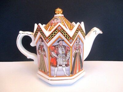 """Sadler """"King Henry VIII and his Six Wives"""" 16 oz. Teapot"""