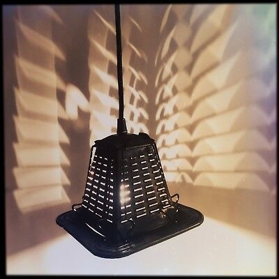 Repurposed Upcycled Vintage Industrial Antique Campfire Toaster Pendant Light
