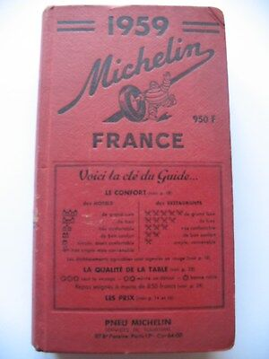 Michelin Guide France 1959