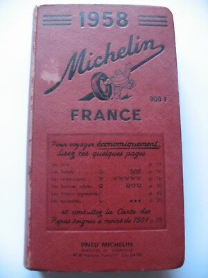 Michelin Guide France 1958