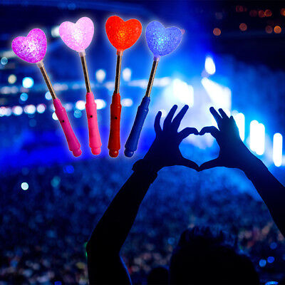 12pcs LED Glow Sticks Magic Heart Wand Flashing Light for Concert Party FA110