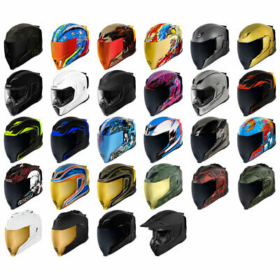 2019 Icon Airflite Full Face DOT Motorcycle Helmet - Pick Size and Graphic