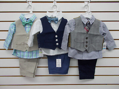 Infant Boys Nautica $50 3pc Assorted Vest Suits Size 3/6 Months - 6/9 Months
