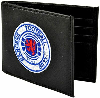 Rangers Fc Crest Embroidered Pu Leather Money Wallet Purse New Xmas Gift