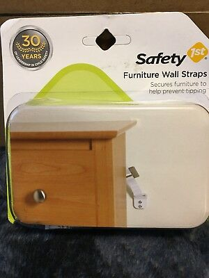 New Safety 1st Furniture Wall Straps Lot of 2 Packs (2) Pr PACK