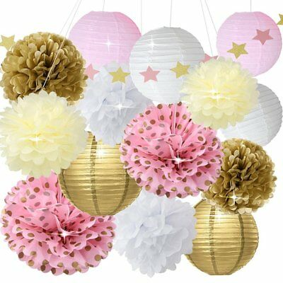 Baby Shower Decor For Girls Birthday Party Decoration Pink Gold