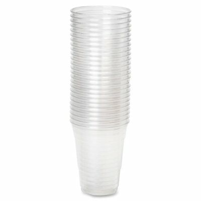 Clear Plastic 7oz Disposable Cups / Drinking Glass / Vending Style + Free P&P