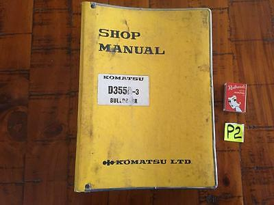 Komatsu D355A-3 Bulldozer Shop Manual,  Factory