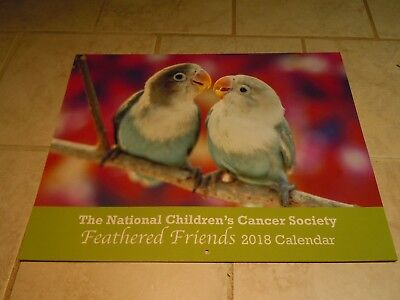 2018 Wall Calendar- National Children's Cancer Society-Feather Friends