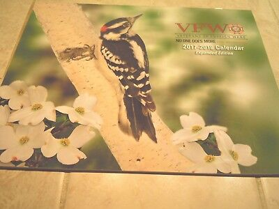 2018 WALL CALENDAR-VFW-VETERAN OF FOREIGN WARS-BIRDS-expanded edition
