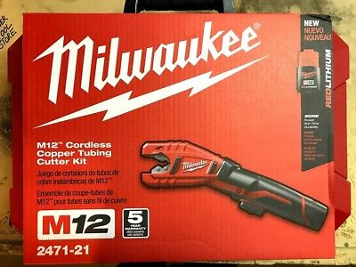 Milwaukee 2471-21 M12 12-Volt Lithium-Ion Copper Tubing Cutter Kit - Free Ship