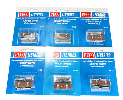 BARGAIN - 6 Pack - PECO PL-10 Point Motor (Switch Machine) - Aust. Warranty