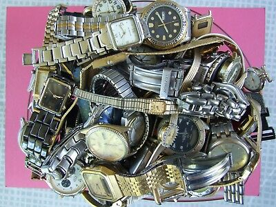 Quartz Watches. 60 plus for parts/repair. Vintage and more modern