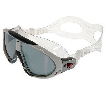 New Speedo Rift Biofuse Swimming Mask Leisure Training Goggles Grey/Smoke