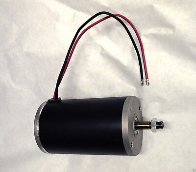 1 hp 24 volt electric permanent magnet DC motor / generator 2999 RPM 12mm shaft
