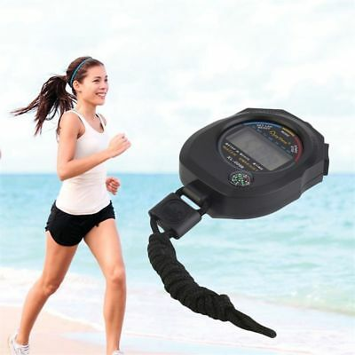 Handheld Waterproof Digital LCD Stopwatch Chronograph Timer Counter Sports Alarm
