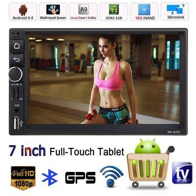 "7"" 2 DIN Autoradio Bluetooth Stereo 16G Android 4.4 USB GPS WIFI MP3 Navigation"