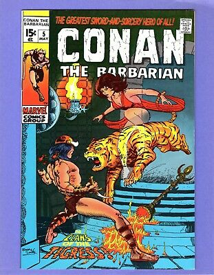 Conan the Barbarian #5 --  Barry Smith - Claws of the Tigress -- --  VF  cond.