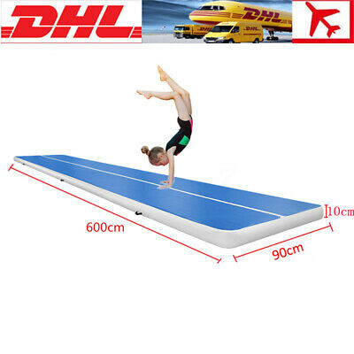 Yoga Air Track Floor Home Gymnastics Tumbling Inflatable 600x90x10cm Tracks Mat