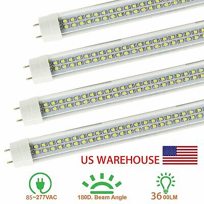 Double Pin 2 line 4FT 36W 6500K T8 Fluorescent Replacement LED Tube Lights MX