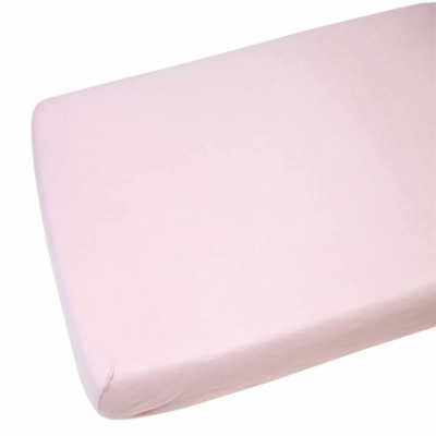2x Toddler / Junior Bed Jersey Fitted Sheet 100% Cotton 140cm x 70cm Pink