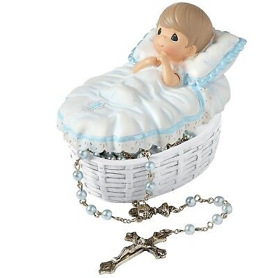 """Precious Moments 153407 Baptism Gift, """"Baptized In His Name"""" Resin Box with R..."""