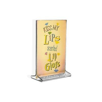 Azar Displays 142726 Vertical Top Load 4-Inch wide x 6-Inch high Acrylic Sign...