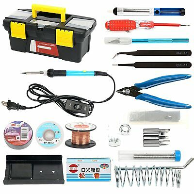Soldering Iron Kit for Electronics, 19-in-1, 60W Adjustable Temperature US Ship