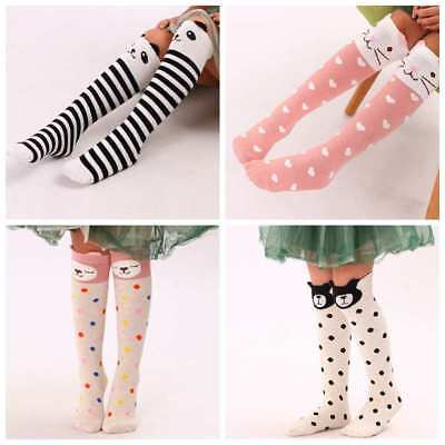 Kids Cotton Knee High Socks Girls Animal Printed Cartoon Long Socks for Children