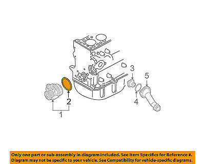 vw volkswagen oem 09-15 jetta-engine water pump gasket 038121119