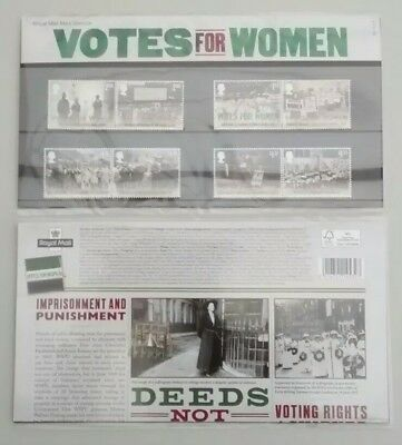 2018 Royal Mail Mint Stamps Votes for Women Presentation Pack 552 15.2.18