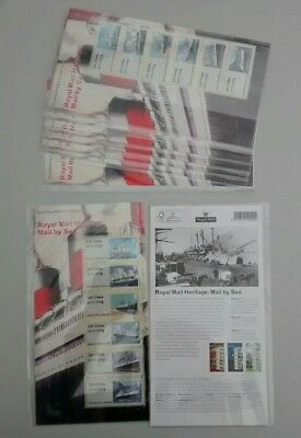 2018 Royal Mail Post & Go Stamps Royal Mail Heritage Mail By Sea P&G 29