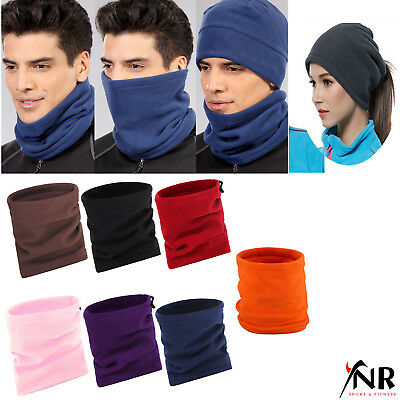Polar Fleece Thermal Cycling Winter Snood Scarf Neck Tube Warmers Cycling Sports