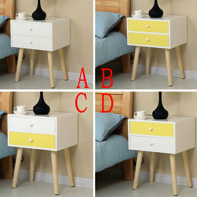 Nightstand End Bedside Night Table Cabinets Bedroom Storage Organizer