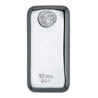 Perth Mint 10oz .999 Silver Cast Bullion Bar