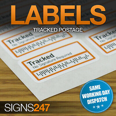 TRACKED STICKERS - Bar Code Postal Stickers INR Labels tracking post delivery