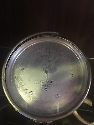 Antique J Hicks Compensated Barometer C1920