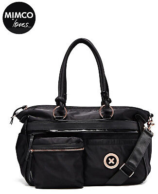 Mimco Splendiosa Baby Bag Weekender Duffle Nappy Travel Black new